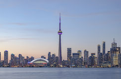 View of Downtown Toronto skyline  at sunset. Stock Images