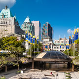 View at downtown Vancouver from the Art Gallery Stock Photography