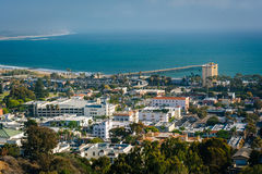View of downtown Ventura and the Pacific Coast from Grant Park, Royalty Free Stock Photography