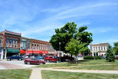 View of downtown Winterset Iowa. View of downtown Winterset, Iowa Stock Photo