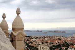 View from drawbridge Notre Dame de la Garde, Marseille Royalty Free Stock Images