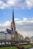 View of Dreikonigskirche, Frankfurt Stock Photography