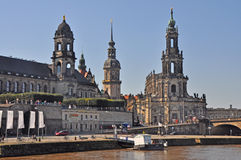 View of Dresden city with Hofkirche Royalty Free Stock Photos