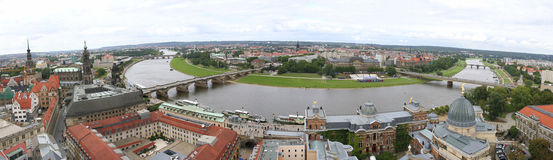 View from the dresden Frauenkirche in Dresden Saxo Stock Image
