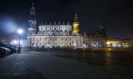 View of Dresden In night Stock Photo