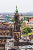 View of Dresden in rainy day Royalty Free Stock Photo