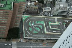 View  of Driving School from Sunshine 60, Tokyo Stock Image
