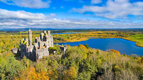 View of Dromore Castle, Limerick, Ireland. Stock Image