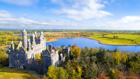 View of Dromore Castle, Limerick, Ireland. Stock Photos