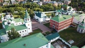 View from drones of Spaso-Preobrazhensky monastery in Murom