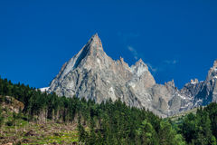 View of Dru Peak in Chamonix, Alps, France Stock Photography