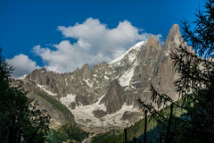View of Dru Peak in Chamonix, Alps, France Royalty Free Stock Photography