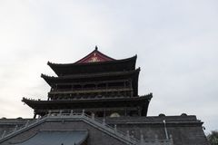 View of the drum tower of Xian -imagen royalty free stock photography