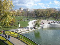 View in Drumul Taberei park in Bucharest in autumn Royalty Free Stock Photos