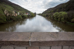 view from the drusus bridge in bingen germany Stock Photos