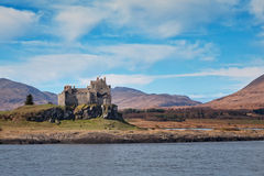 View of Duart castle from the sea Royalty Free Stock Image