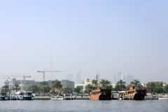 View on Dubai from al-Ras Stock Images