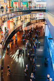 View of Dubai Aquarium inside Dubai Mall Stock Images