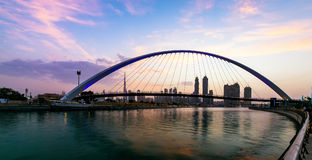 A view of Dubai Canal and Dubai Skyline Stock Photography