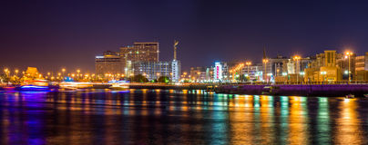 View of Dubai Creek in the evening Stock Photography