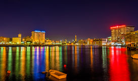 View of Dubai Creek in the evening Royalty Free Stock Photo
