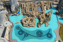 View of Dubai downtown from above Stock Photo
