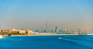 View of Dubai Downtown from Palm Jumeirah Royalty Free Stock Photo