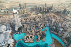 View on Dubai from the highest tower in the world Royalty Free Stock Images