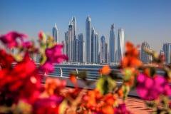 View of Dubai Marina from Palm Jumeraich, United Arab Emirates Royalty Free Stock Photography