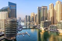 View of Dubai Marina skyscrapers in Dubai, UAE. Royalty Free Stock Photo