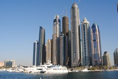 View dubai marina from waterside Royalty Free Stock Photography