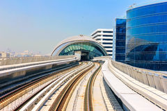View from the Dubai Metro Stock Images
