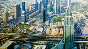 View of Dubai and skyscrapers royalty free stock photography