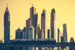 View of Dubai with subway royalty free stock images