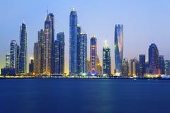 View of Dubai at sunrise Royalty Free Stock Image