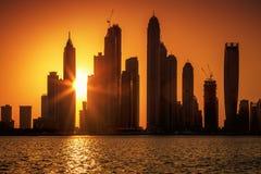 View of Dubai at sunrise Stock Photos