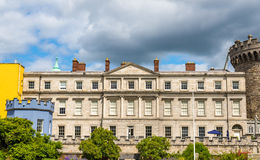 View of Dublin Castle froom Dubh Linn Stock Photo