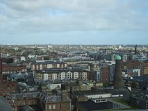 View of Dublin from the Guinness Storehouse in Dublin in Ireland, Europe. View of Dublin from the Guinness Storehouse in Dublin in Ireland in Europe Stock Photos