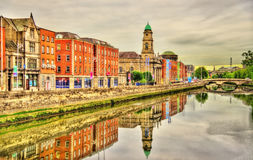 View of Dublin with the river Liffey Stock Images