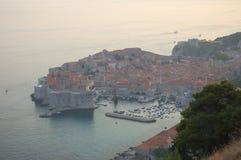 Sunset view on Dubrovnik, Croatia Royalty Free Stock Photo