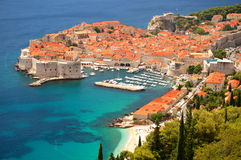 Picturesque view on the old town of Dubrovnik, Cro royalty free stock images