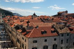 View of Dubrovnik City, Croatia Royalty Free Stock Image