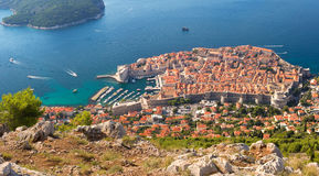 View of Dubrovnik, Croatia, from above Royalty Free Stock Photo