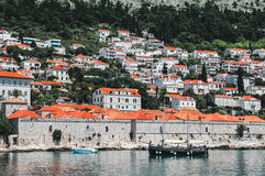View of Dubrovnik. Croatia. Dubrovnik. View of the house on a background of mountains royalty free stock images