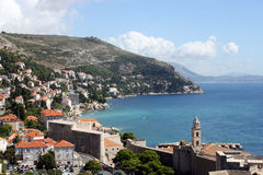 View of Dubrovnik, Croatia. Dubrovnik is situated in Southern Dalmatia, Croatia. Adriatic coast Royalty Free Stock Photo
