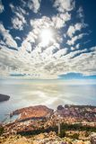 View of Dubrovnik from Mount Sdr. View of Dubrovnik Croatia from Mount Sdr royalty free stock images