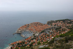View of Dubrovnik Old Town, Croatia. View of Dubrovnik Old Town in Croatia Royalty Free Stock Image