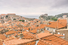 View of Dubrovnik Old Town and Fort Lovrijenac Royalty Free Stock Photography