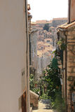 View of dubrovnik old town roofs Stock Image