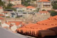 View of Dubrovnik roof stock photos